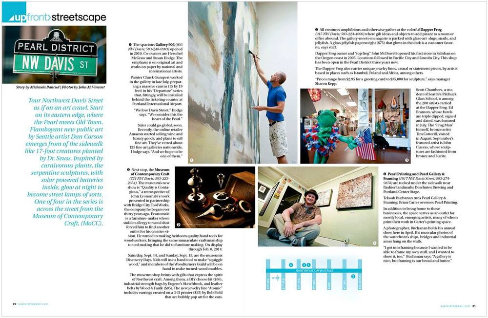 Write-up in  Explore The Pearl  magazine