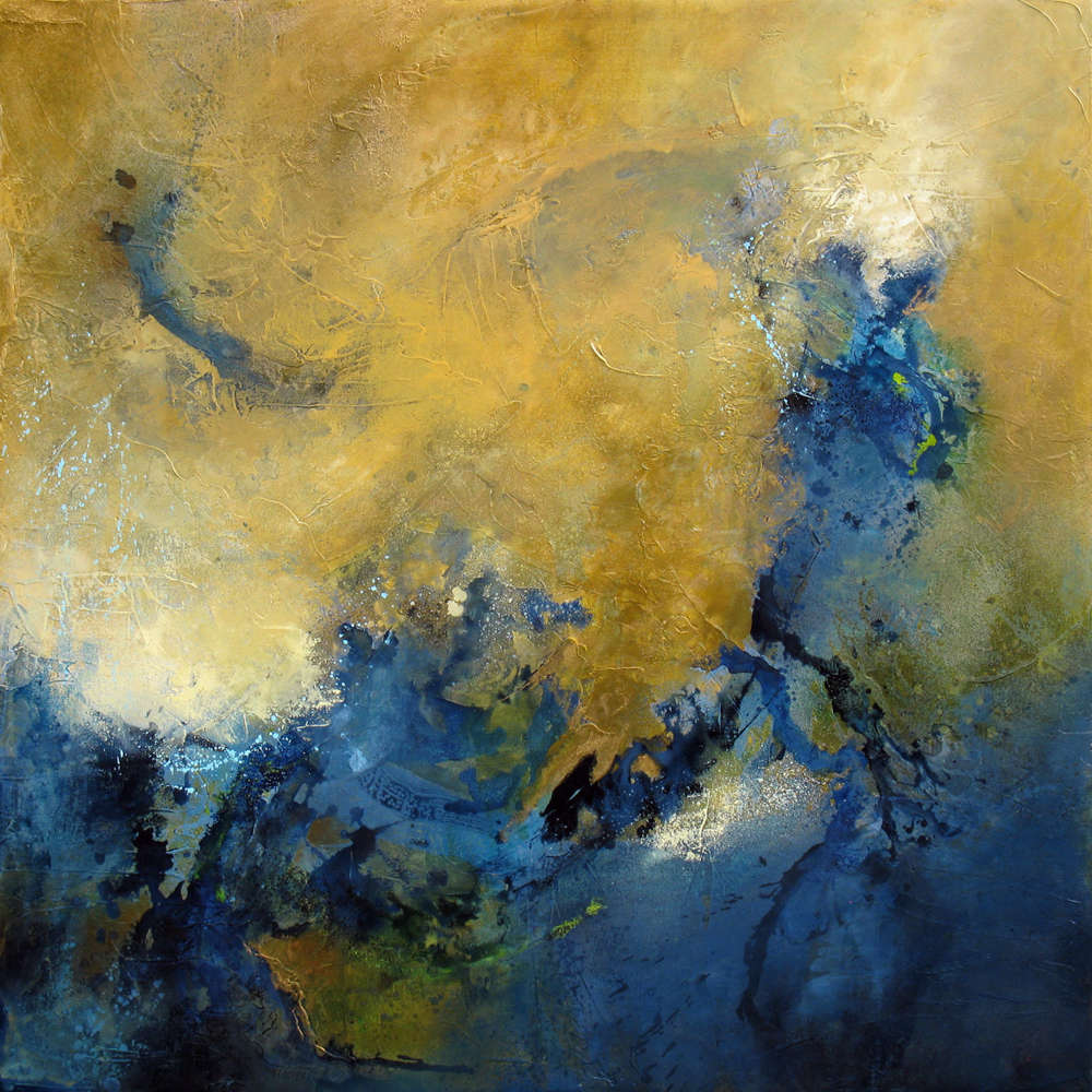 """""""Beneath The Surface"""" 48 x 48 in. — oil & mixed media"""