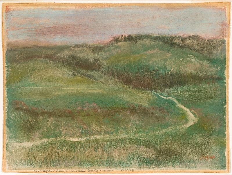 Edgar Degas |Landscape | 1892
