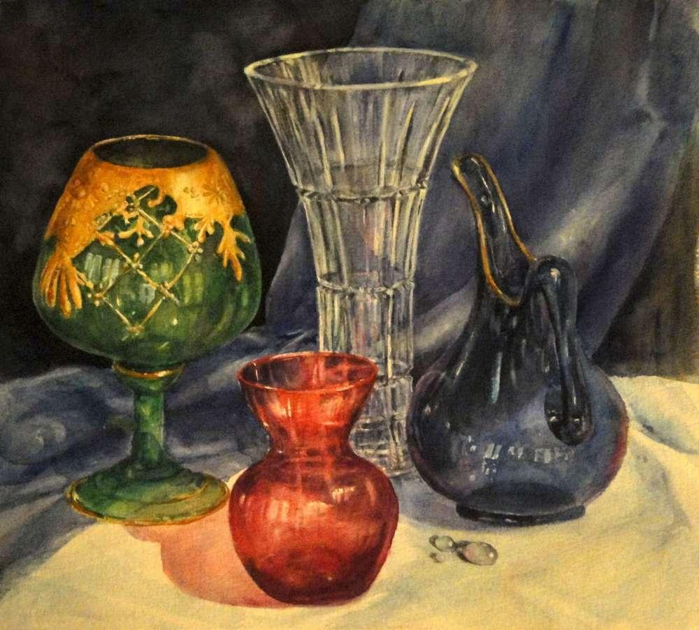 Crystal Vase Still Life