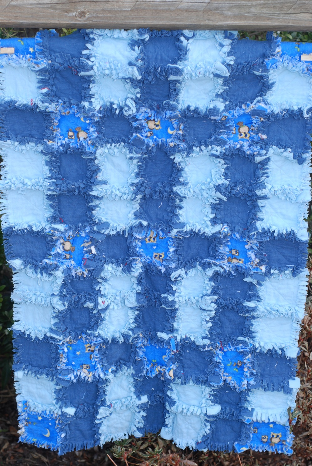 This was one of my first rag quilts ever. It was cute, but I've learned a lot since this one.