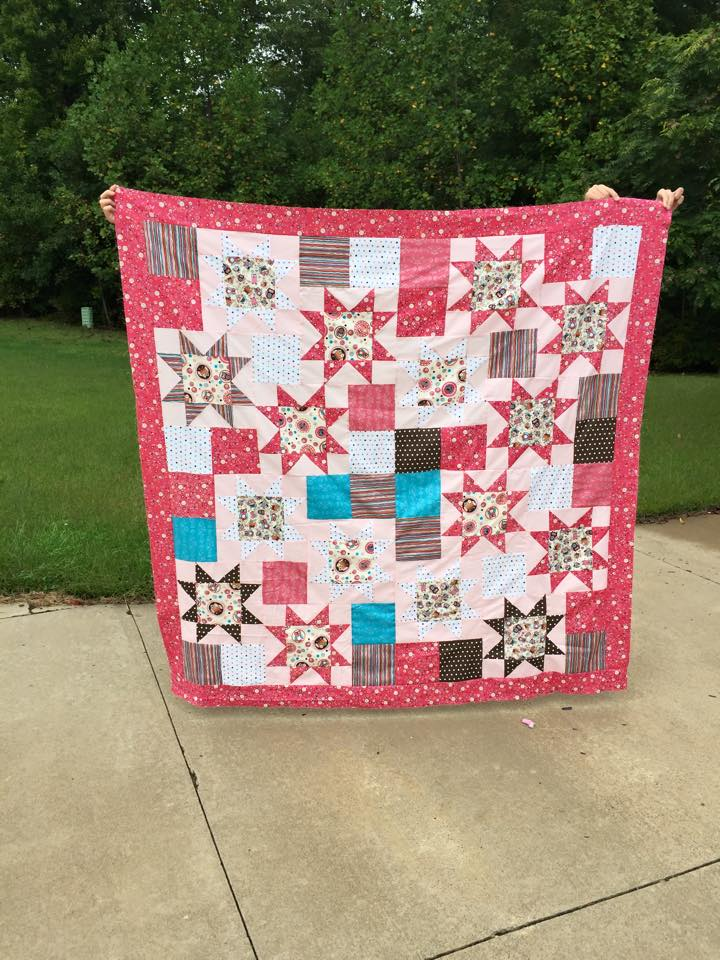 This is the practice quilt I made.