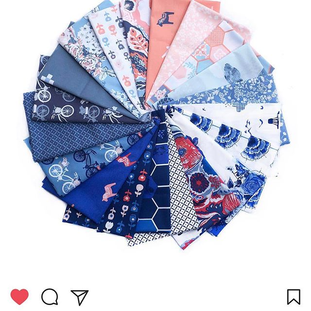 #inbluefabricsgiveaway I'd like the Zoet color way!  I'm pretty excited about these fabrics.  My husband's family is Dutch and I'm looking forward to making him something with it! #artgalleryfabrics