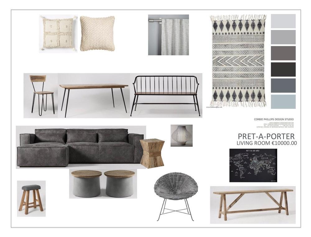 Pret-A-Porter: Living Room Scheme / Grey