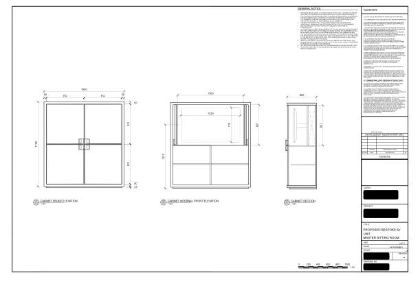Cabinet concept sketch
