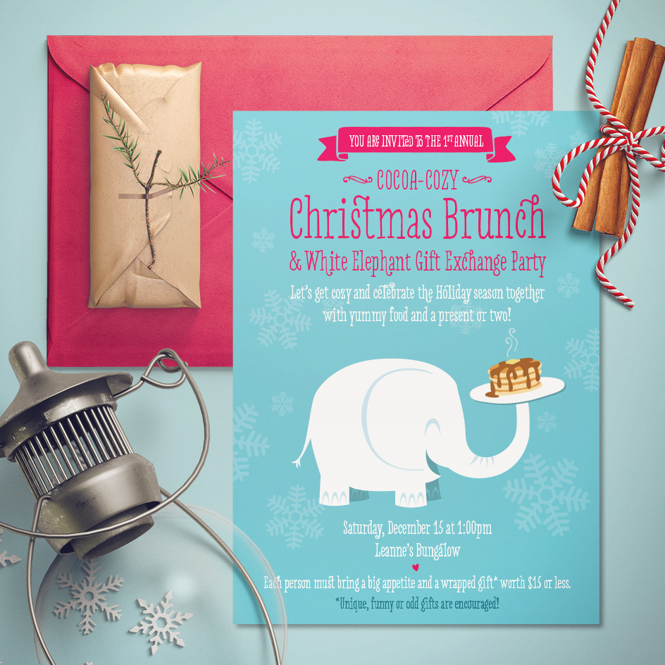 Christmas Brunch Invitation