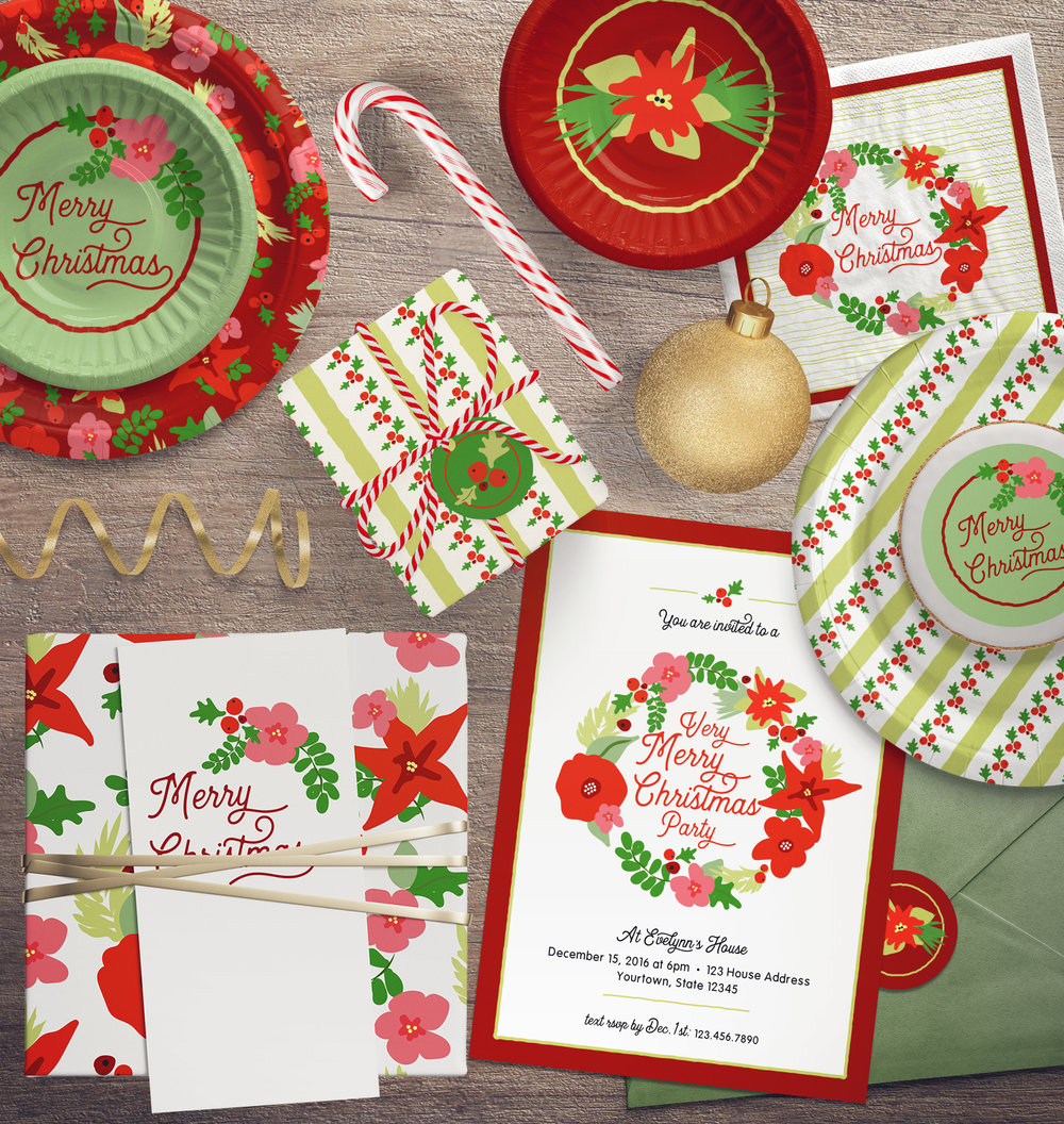 Christmas Flora Party Collection