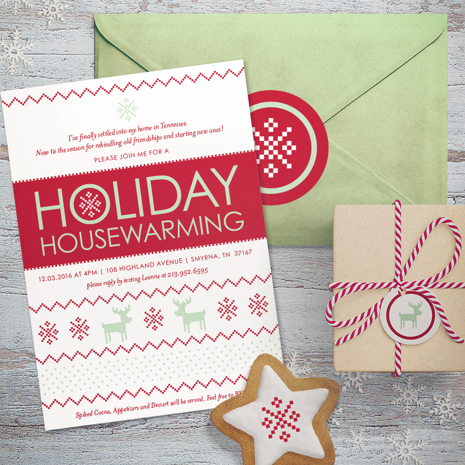 Holiday Housewarming Party Invitation