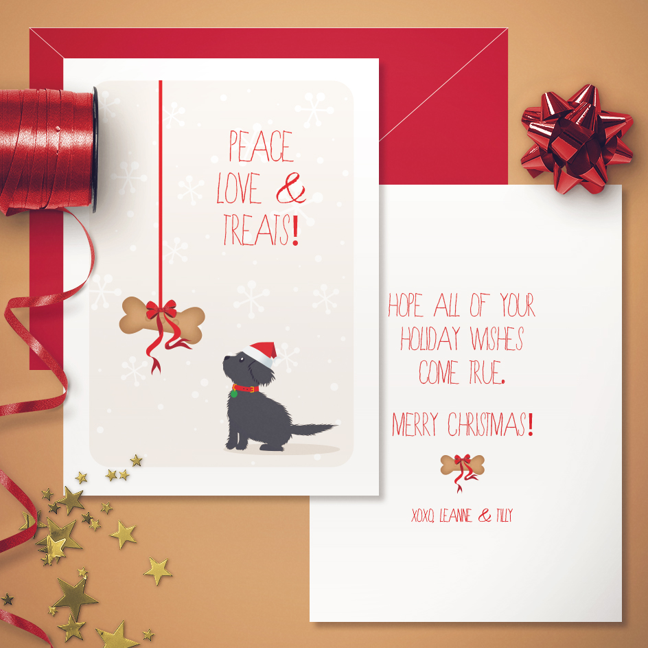 Doggie Christmas Greeting Card
