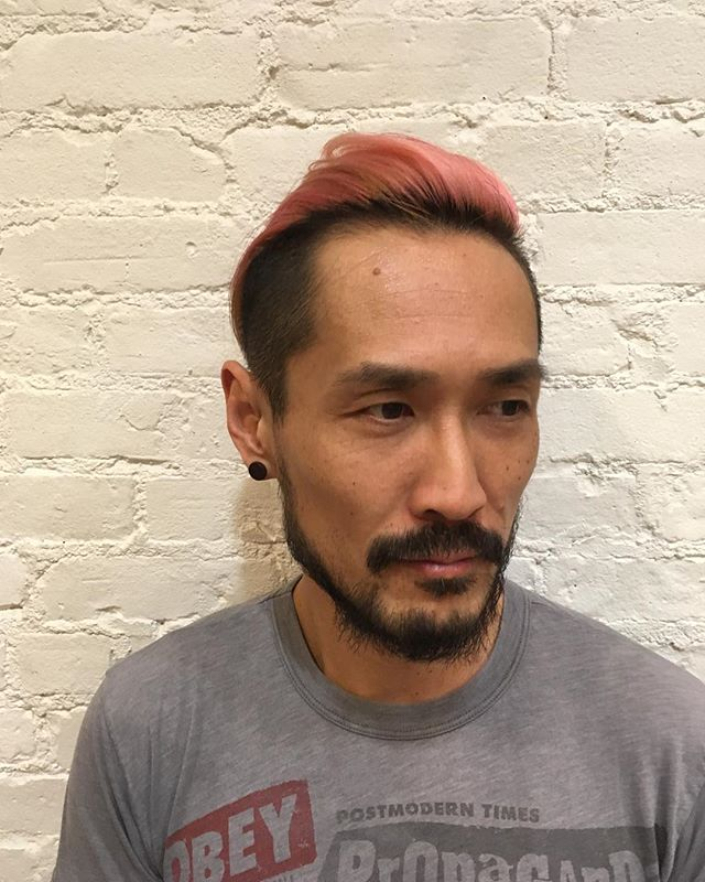 Thank you for your gracious patient for this color!! #haircolor #pink #bleach #doubleprocess #doubleprocessblonde #pastelhair #hair #greenwichvillage #hightonecolor #highlights #menshair #menshairstyles