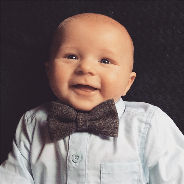 Baby Jacob's first bow tie!