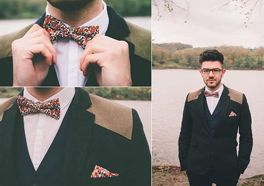 Gregory Bow Tie and matching Pocket Square