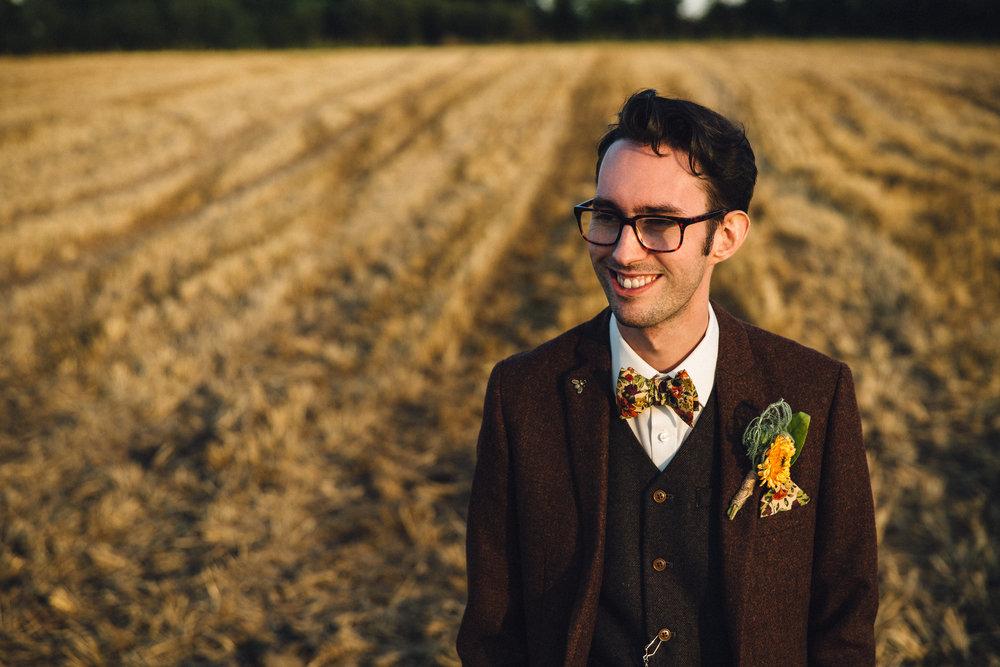 Summer wedding cornfield autumn colours