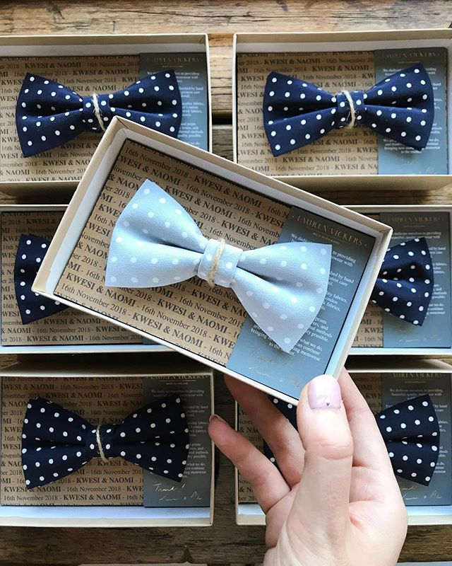 With the last wedding order of the year complete I'm ready to start working on Christmas orders! . . . . #bowties #bowtie #menstyle #mensaccessories #weddingdetails #groomstyle