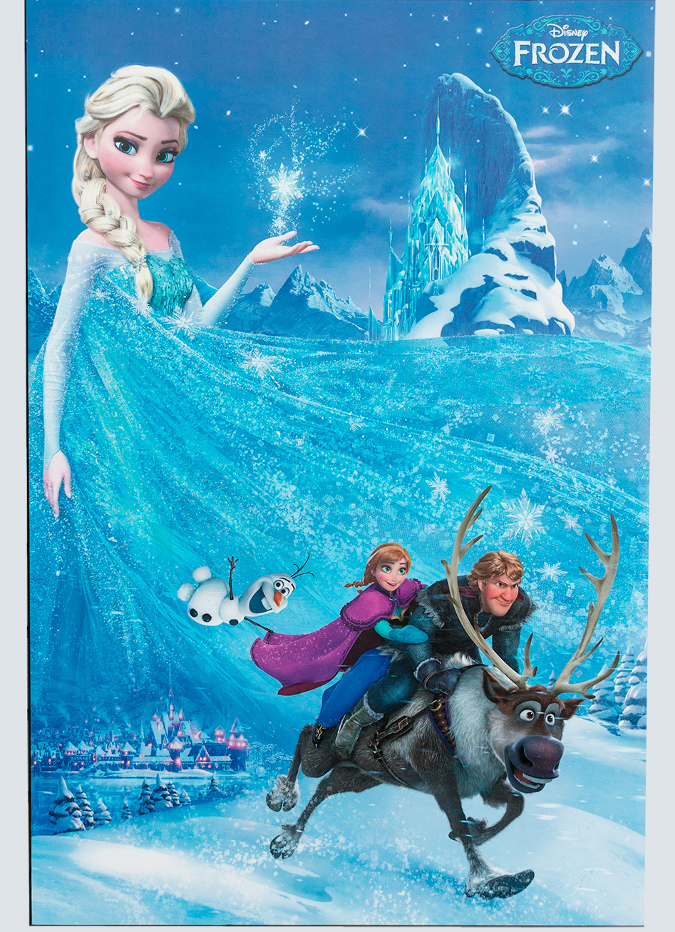 Plaque mounted poster from the Disney movie Frozen