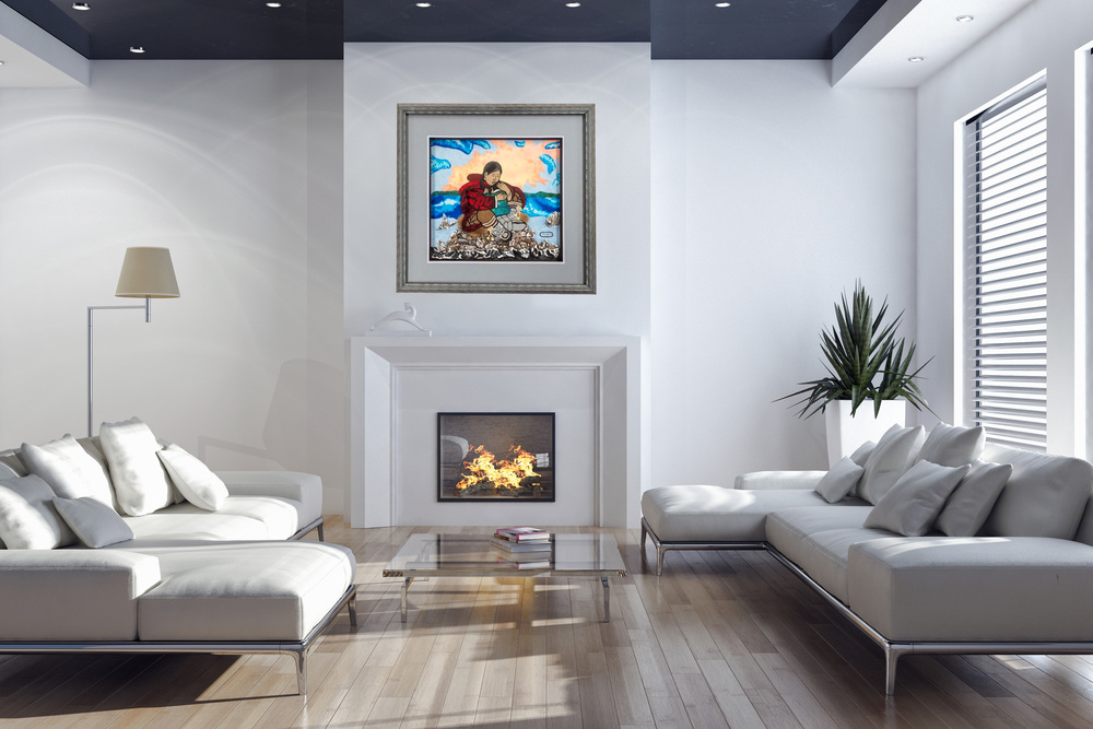 Framed art enhances your home