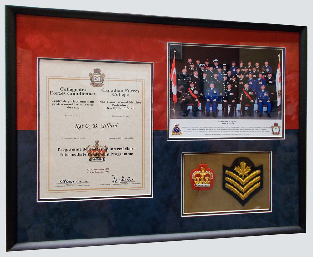 Military certificate and medals
