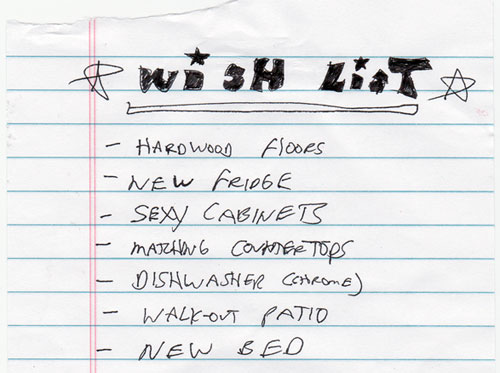 home-wish-list