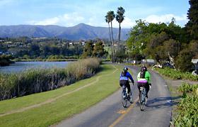 Cabrillo bike trail, Santa Barbara