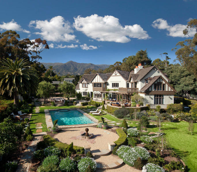 Middle Road abode: a spacious six-bedroom, seven-bathroom home sold in the heart of the lower village of Montecito for $8,191,260 (listed by Riskin Properties of Village Properties, sold by non-MLS member agent and brokerage)