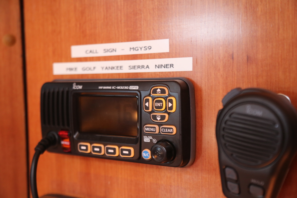 Our VHF radio and unique identifiable call sign