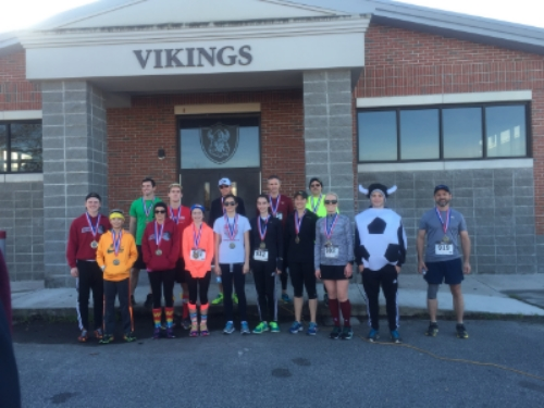 Age group winners today at a local 5K to support a high school soccer team