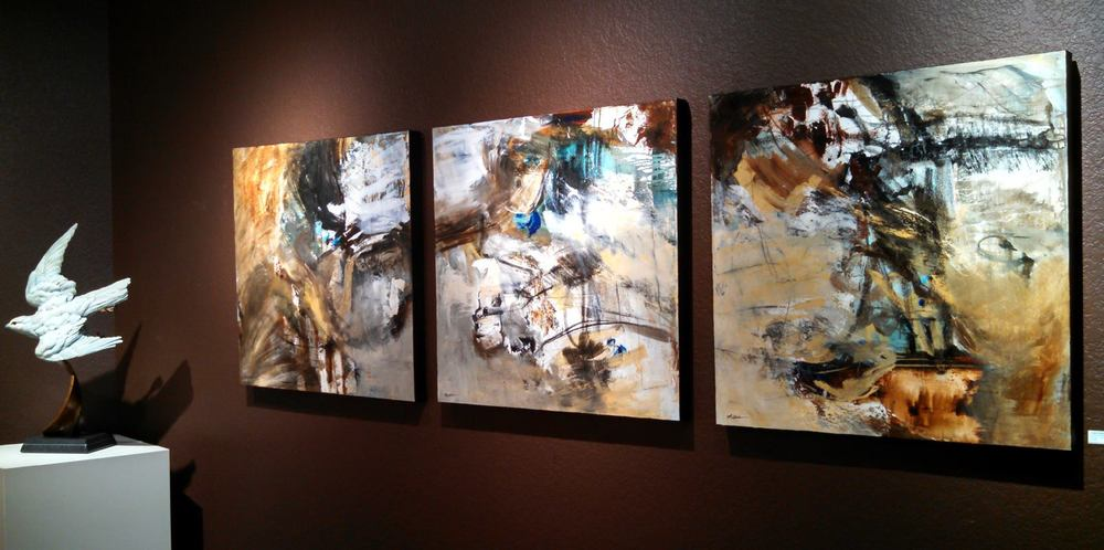 """Constructed Nature,"" 36 x 108 inches (triptych)"
