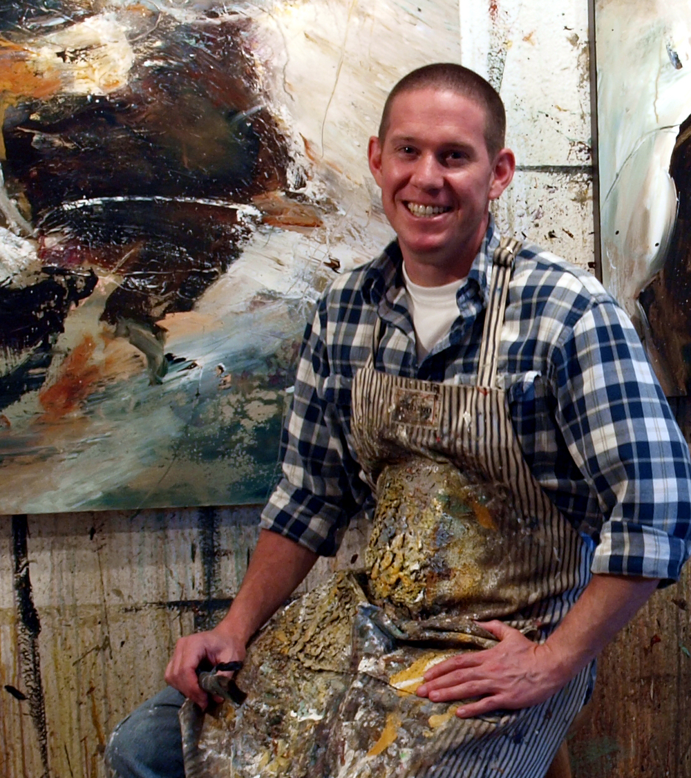 Christopher Mathie in his Port Orchard, WA, painting studio.