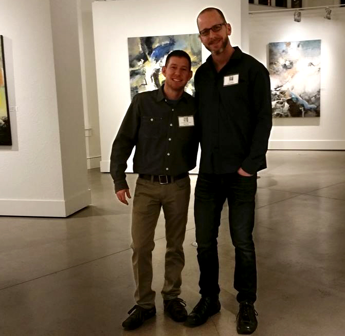 Christopher Mathie with partner and artist, Chuck Gumpert.