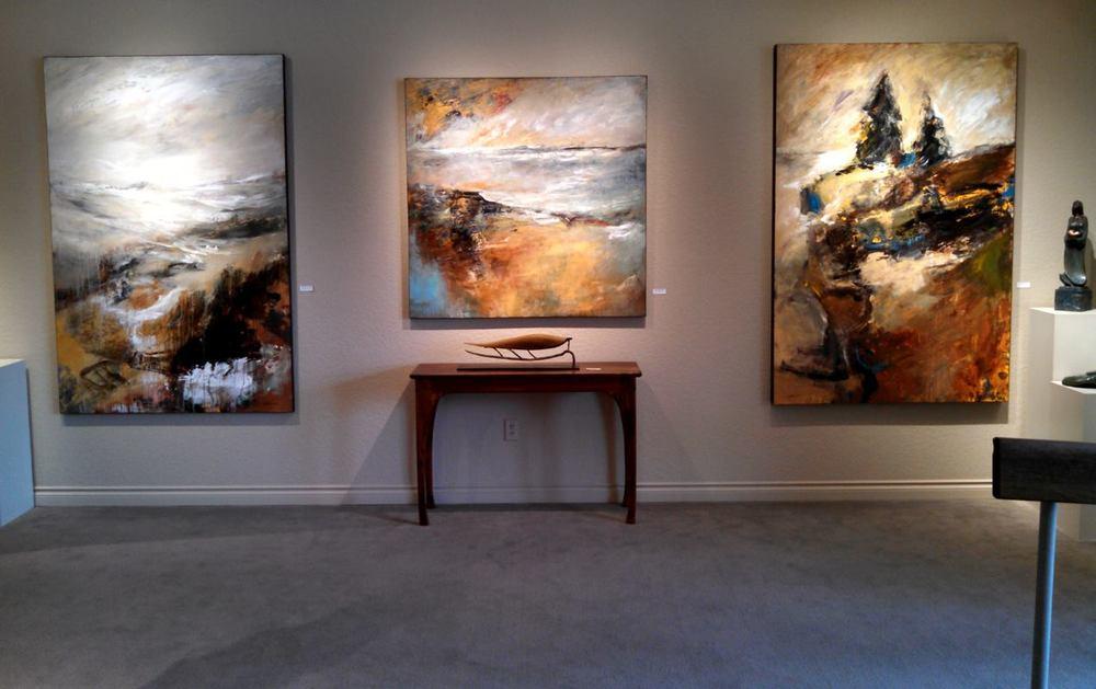 Recent Mathie installation, 07-2015, at Howard/Mandville Gallery, Kirkland, WA