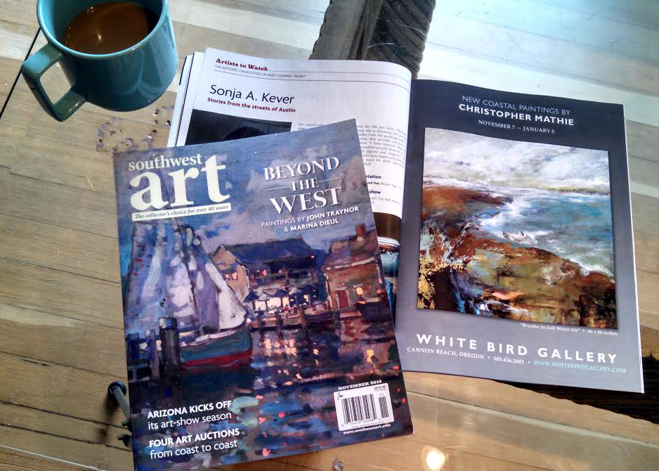"Full page ad in Nov. 2015, ""Southwest Art Magazine,"" page 21, for a recent solo show."