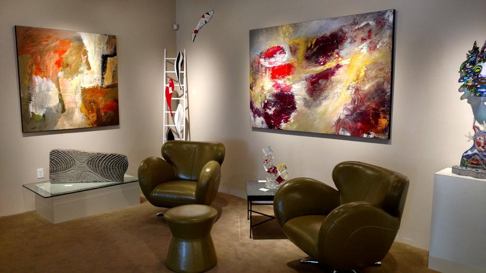 Recent Mathie installation at Gallery Mack in Seattle, WA