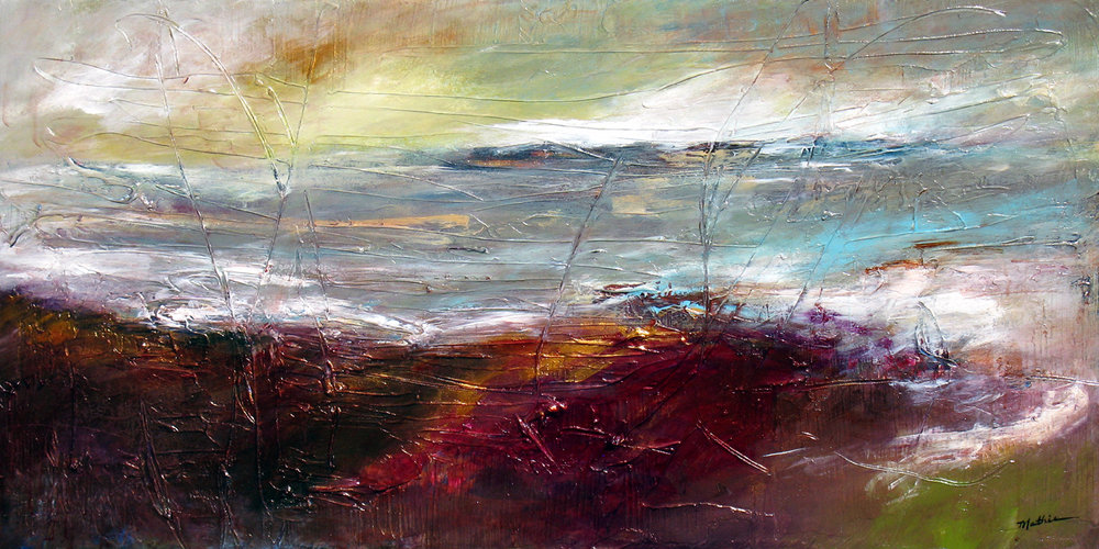 """""""Cranberry Coast,"""" 24 x 48 inches, *SOLD"""