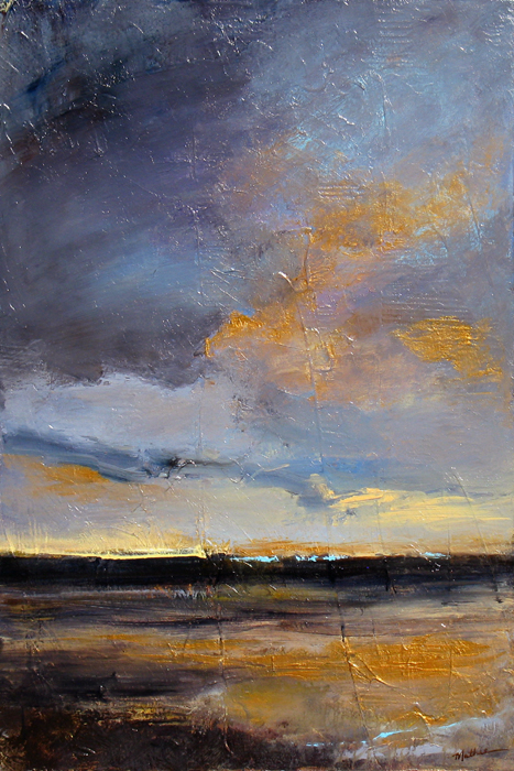 """Last Light,"" 36 x 24 inches, *SOLD"