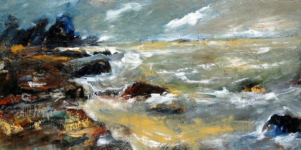 """Winter Seas,"" 24 x 48 inches, *SOLD"