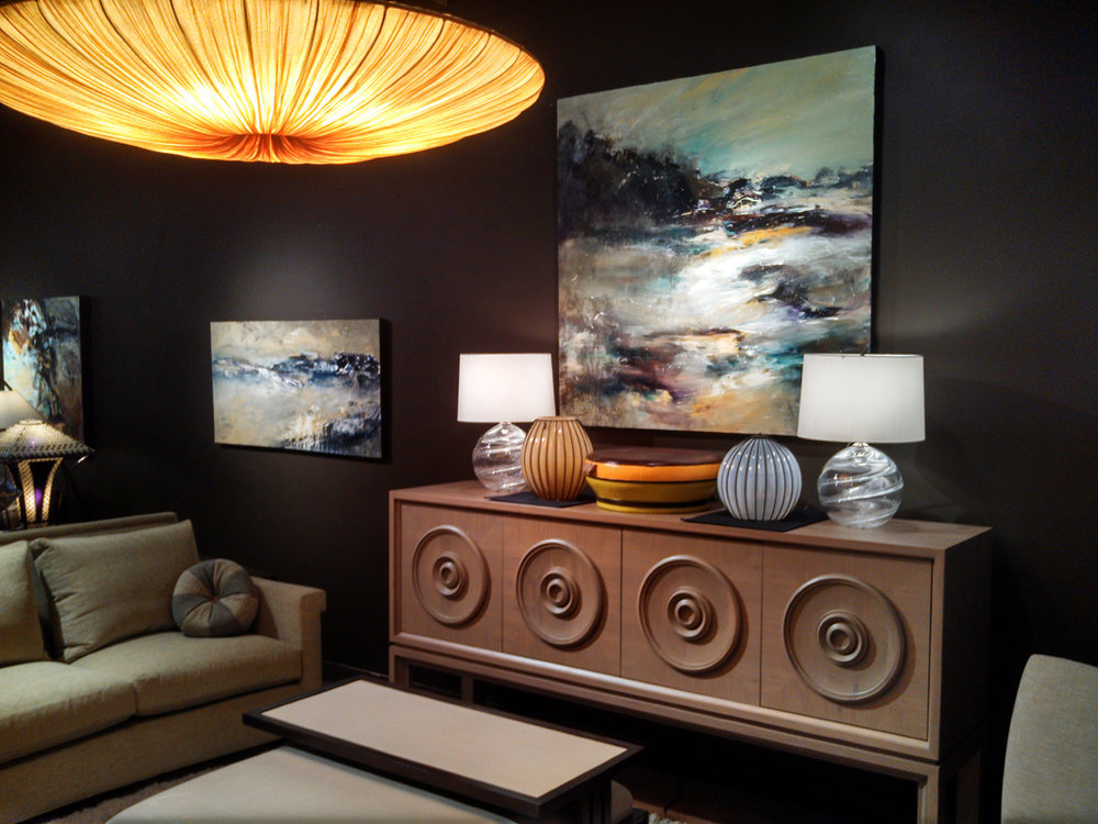 Installation at Trammell-Gagne' in the Seattle Design Center, Seattle, WA.    *Painting SOLD — thank you!