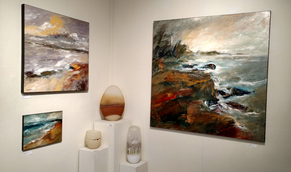 Recent installation at White Bird Gallery in Cannon Beach, OR. Show runs thru Jan 2, 2018.