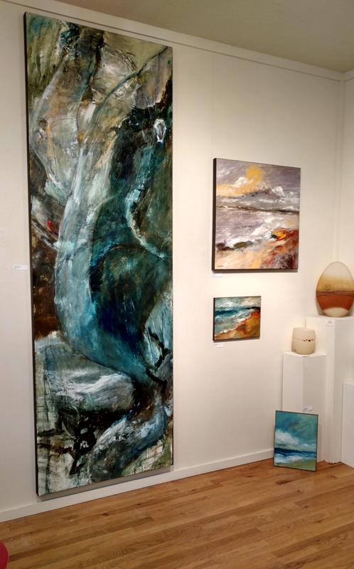 Previous installation at White Bird Gallery in Cannon Beach, OR. Show runs thru Jan 2, 2018.