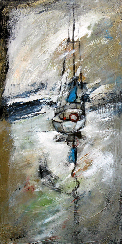 """""""Anchored — Wintertide,"""" 36 x 18 inches, by Mathie. Currently available at Howard/Mandville Gallery, Kirkland, WA. This is one of my faves, at the moment!!!"""