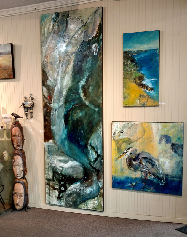 Recent installation at White Bird Gallery, Cannon Beach, OR.