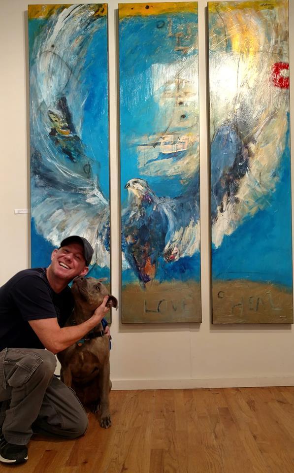 Christopher Mathie & Blue.