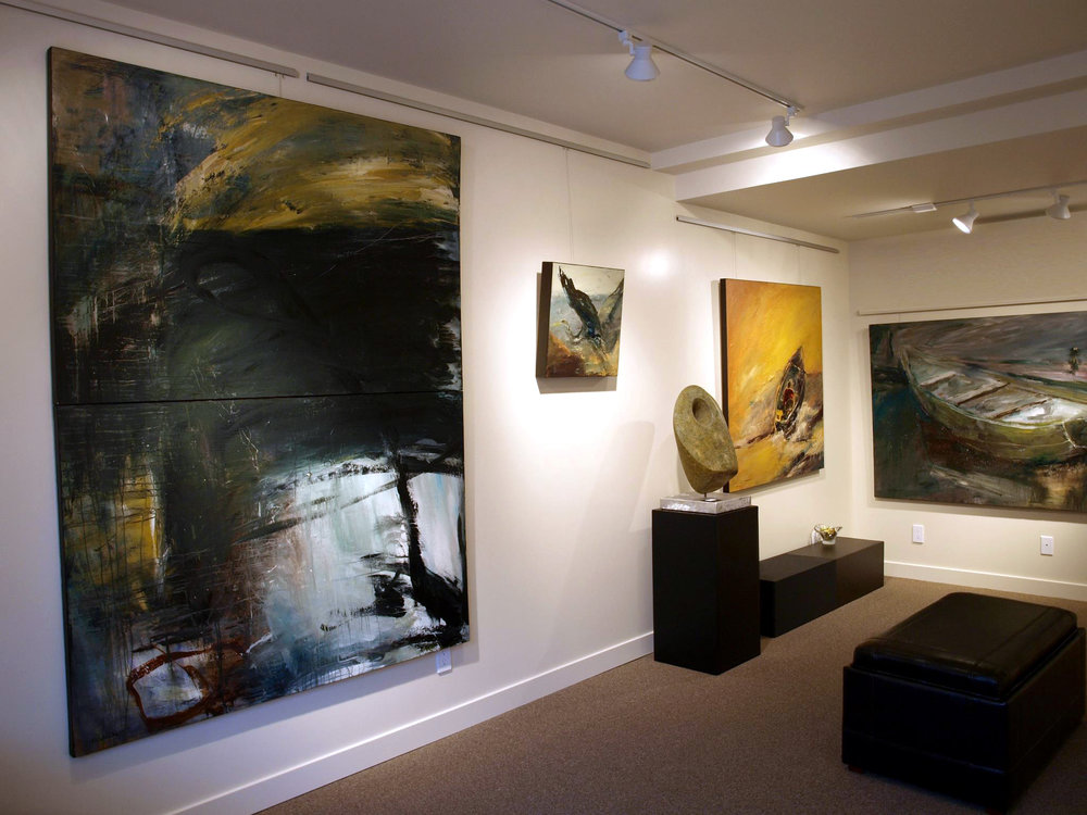 Previous installation of Mathie paintings.
