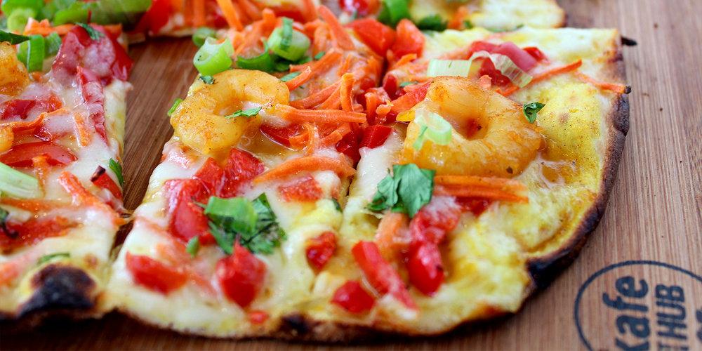 Curry Shrimp Flatbread