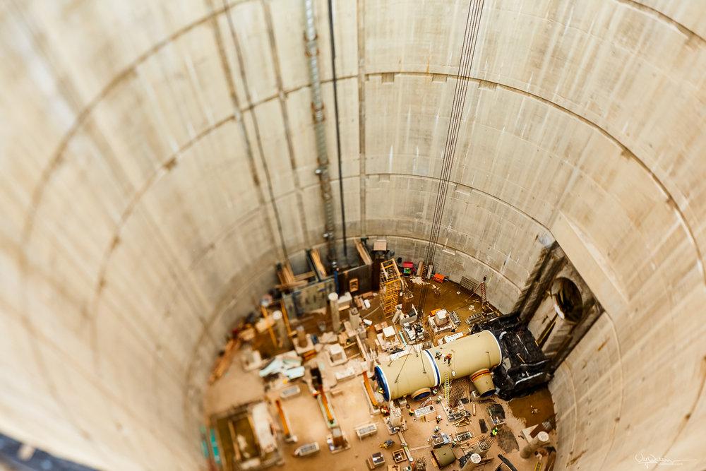 187 feet down