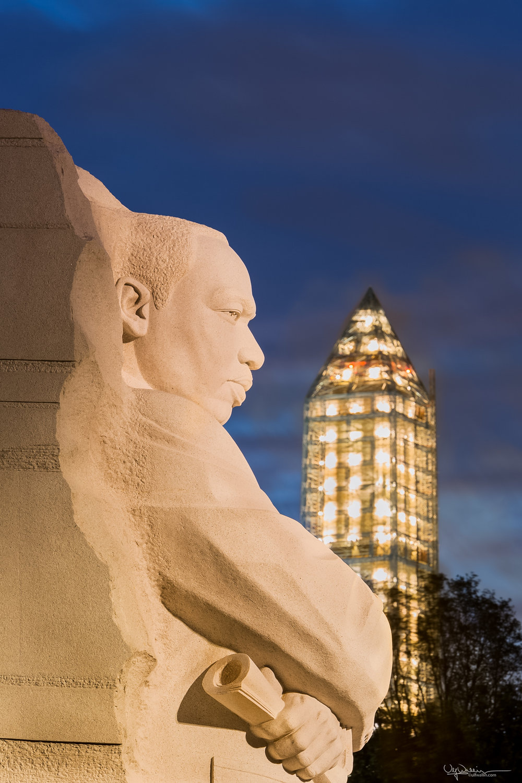 MLK Memorial and Washington Monument