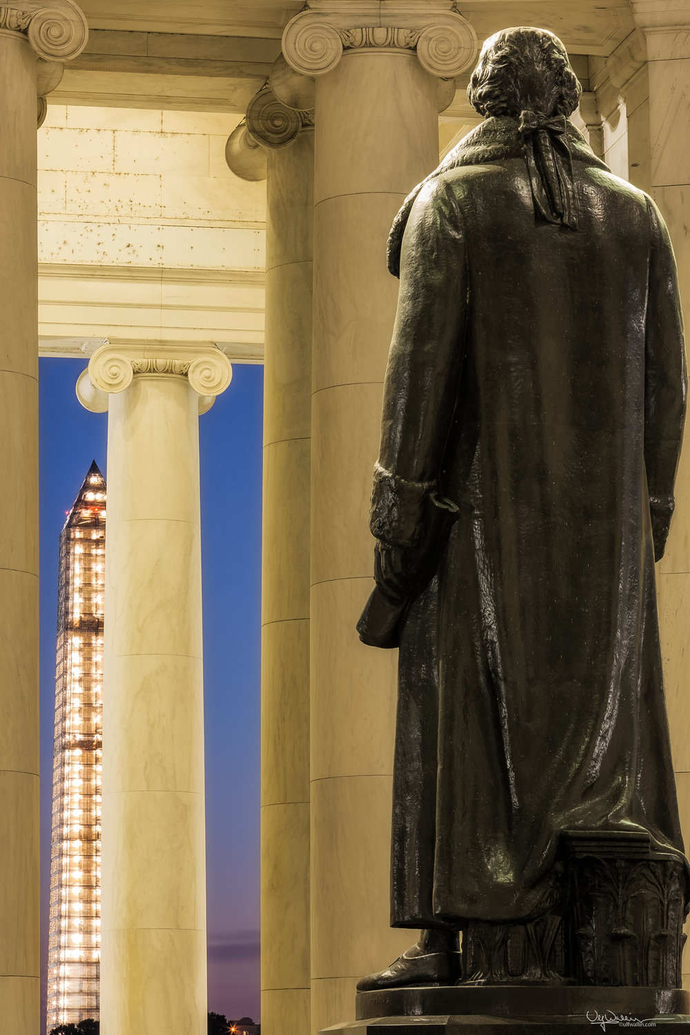 Jefferson Memorial and Washington Monument