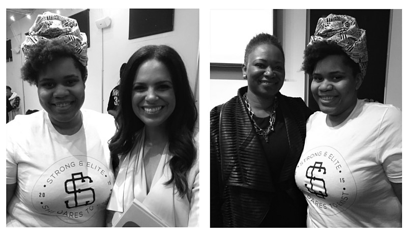Founder Charell Strong with Soledad O'Brien and Vanessa De Luca, respectively