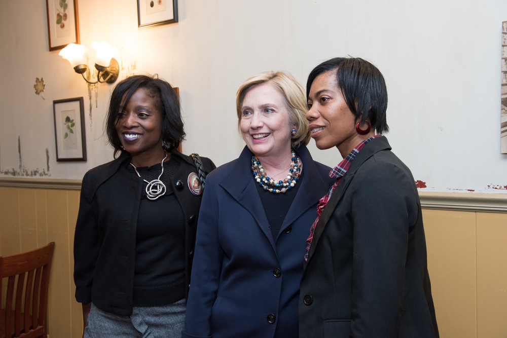 Felice with Hillary Clinton and fellow board member Sandra Abron