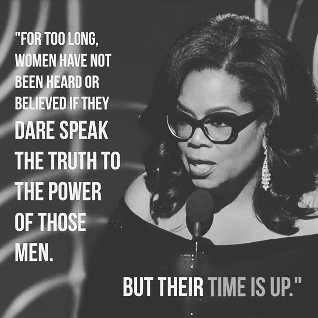 Oprah. Did you get your life from her Golden Globes speech like we did?! #SheDares