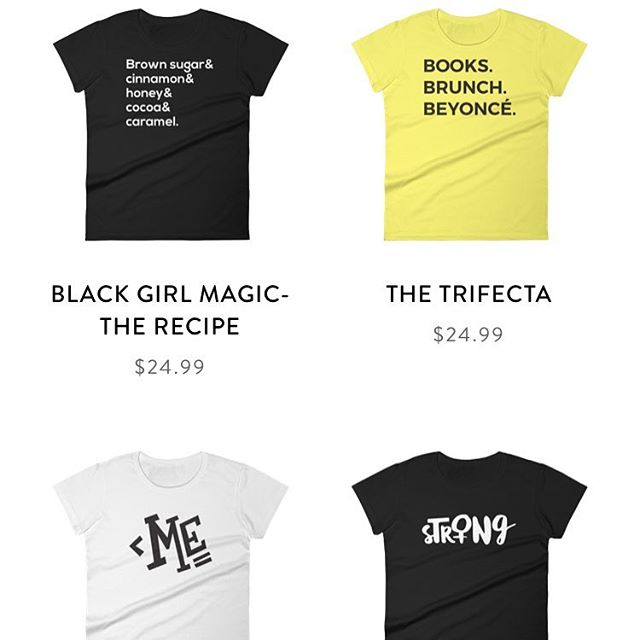 Started the week with Bey why not end it with her? Check out some of our new designs in the shop now! Our personal favorite is the Trifecta- because it's a lifestyle.  #SheDares